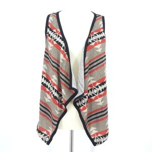 Poetry Southwestern Navajo Open Front Draped Vest